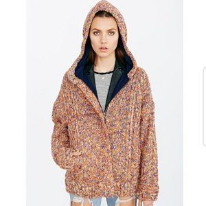 Urban Outfitters BDG Marled Hooded Sweater Coat